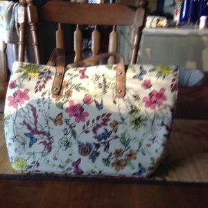 Giani Bernini Floral & Butterfly Tote
